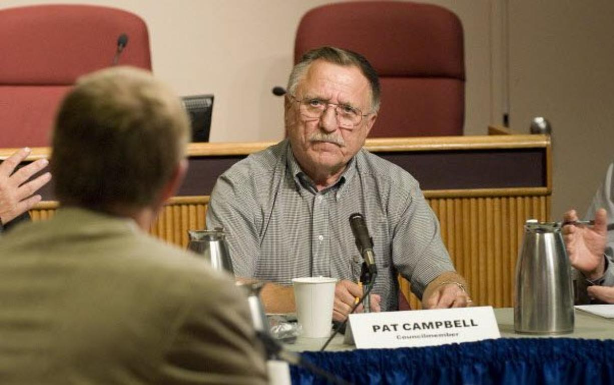 Vancouver City Councilman Pat Campbell is trailing two opponents in the race to retain his seat by a margin too great to overcome, elections officials said Wednesday.