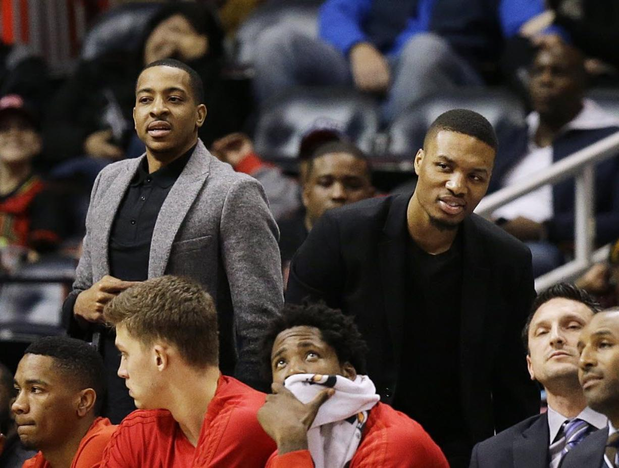 C.J. McCollum, left, and Damian Lillard have shown they can co-exist in the Portland Trail Blazers backcourt.