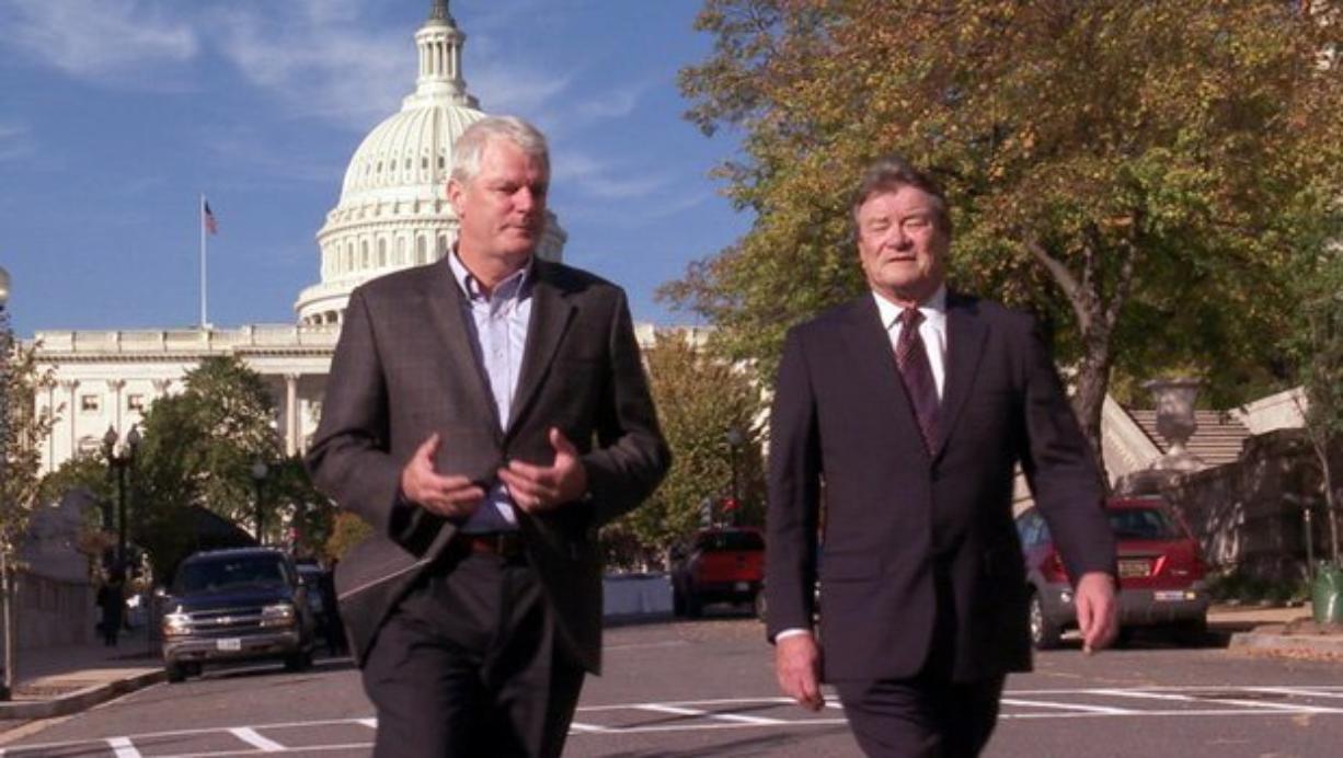 Southwest Washington's former U.S. Rep. Brian Baird (left) told CBS correspondent Steve Kroft (right) that he and U.S. Rep.
