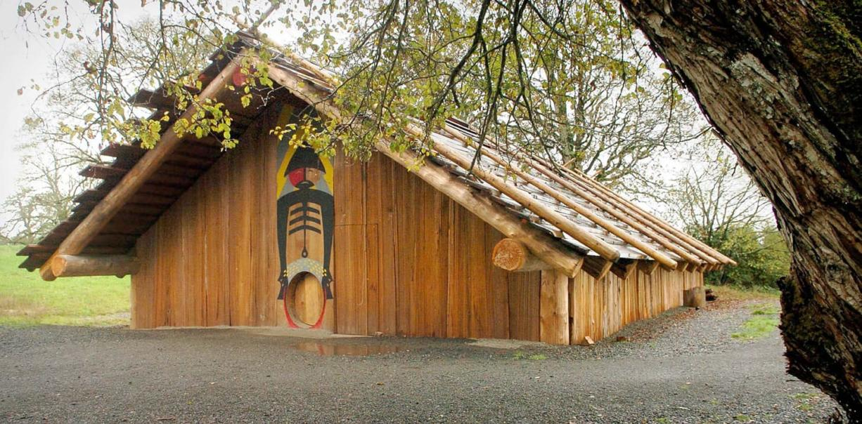 Plankhouse springs back to life - Columbian.com on american indian charnel house, native american plank house model, tlingit plank house, modern contemporary indian house, native americans northwest coast people, native american pit house, native american wattle and daub house, creek indian chickee house, native alaskan face tattoo, native american council house, native northwest coast indians shelter, native americans northwest coast trees, chemehuevi indian tribe house, native americans northwest coast hooks for fishing, pacific northwest indians shelter plank house, native homes, native american reservation house, native indian longhouse village, pacific northwest coast indians house,