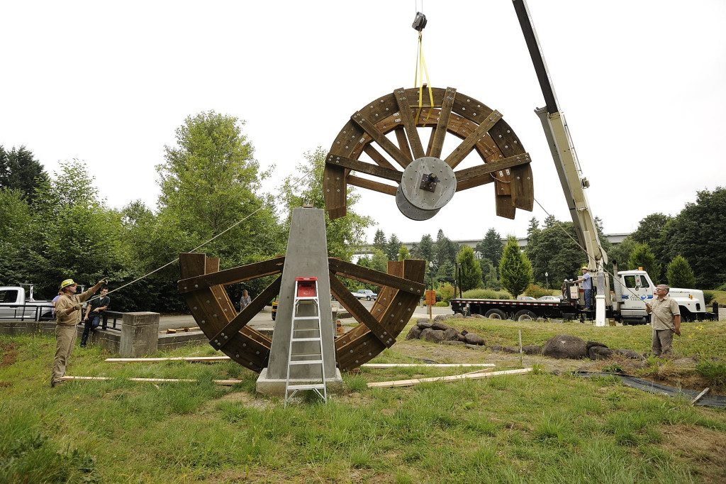 Water Wheel At Columbia Springs Turns Back Years The Columbian