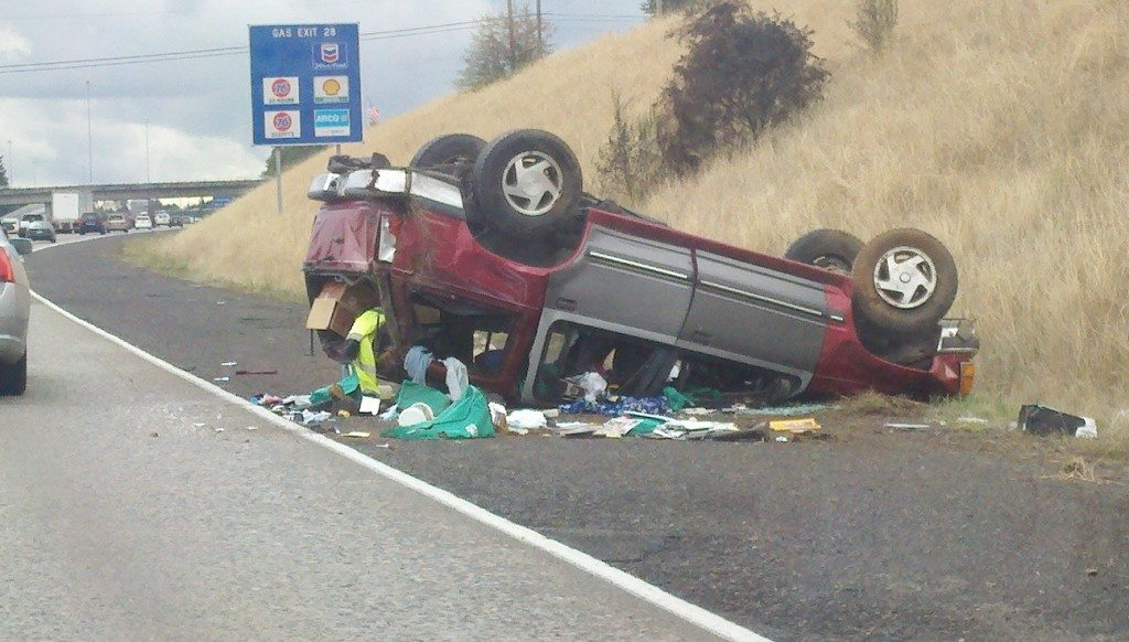 Washougal man injured in rollover accident on I-205   The Columbian