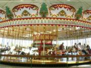 The carousel at the Jantzen Beach Center, seen in 2003, has been missing since it was moved from the mall renovation in 2012.