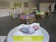 The infant products company Puj was launched on the strength of the Puj Tub, a soft foam tub that conforms to the shape of most sinks. The tub is among the products now in display at the company's newly developed showroom and retail store at 301 W. 11th St. in Vancouver.
