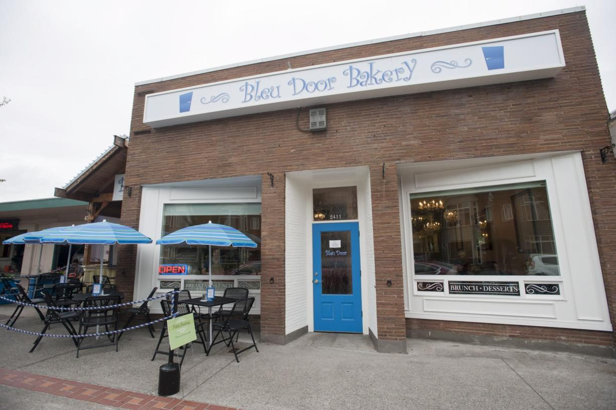 Bleu Door Bakery won Vancouver's Downtown Association award for best facade improvement at Thursday morning's awards breakfast.