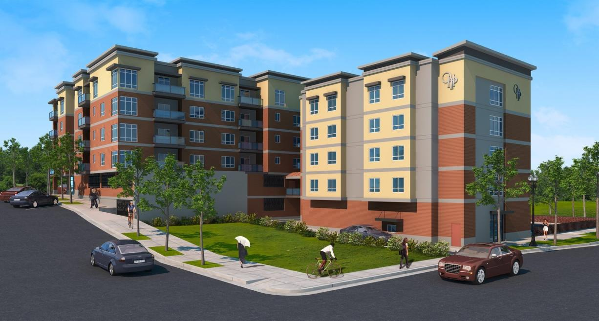 Our Heroes Place, a building planned by Prestige Development on Mill Plain Boulevard, will offer a housing option for Clark College's international students, said Elie Kassab, CEO of the development firm. Kassab said Prestige will make an effort to accept international students even if they don't have typical documentation required by landlords when the building opens next year. (Prestige Development)
