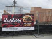 Construction is underway on a new Red Robin restaurant in Battle Ground's Millcreek Town Center, a commercial complex that includes a Wal-Mart store.