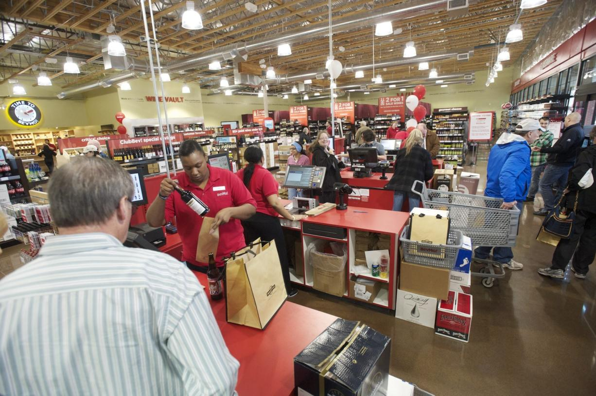 Clark County retail sales from July through September totaled $1.59 billion. The 13.4 percent growth rate was the highest among the state's 10 largest counties. Other counties saw increases ranging from 1.3 percent in Yakima County to 10.6 percent in King County.