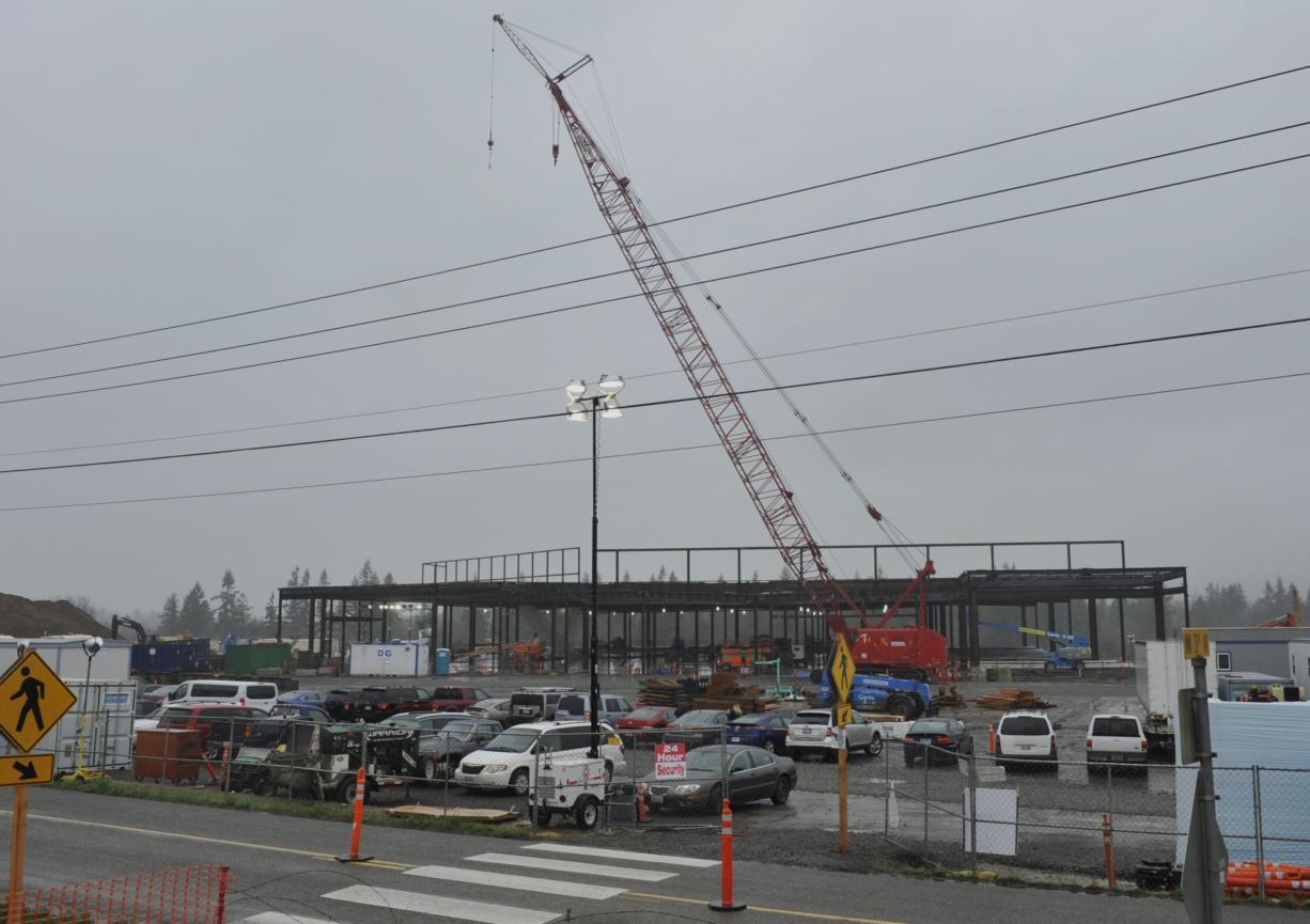 The Cowlitz Tribe's casino-resort is beginning to take shape on its reservation west of La Center.