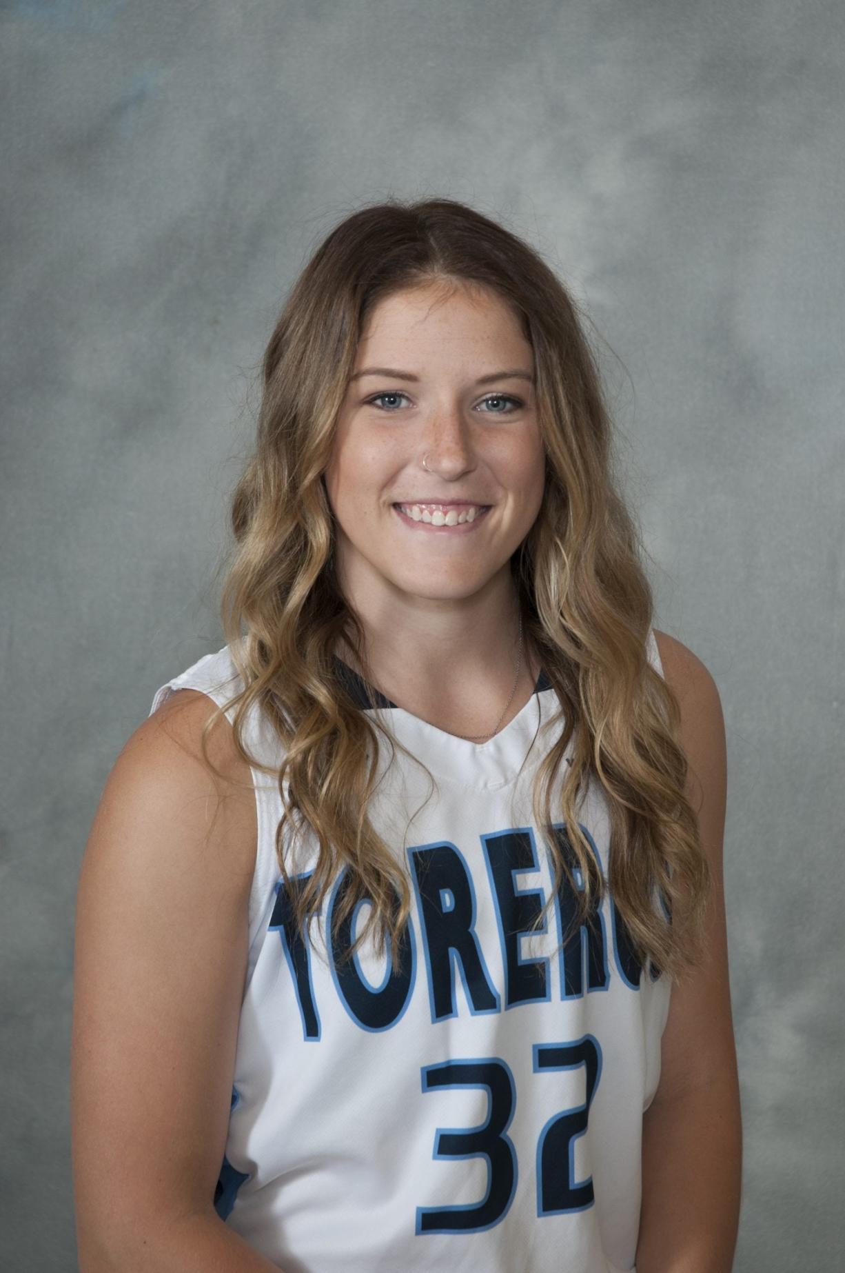 Cori Woodward, University of San Diego women's basketball.