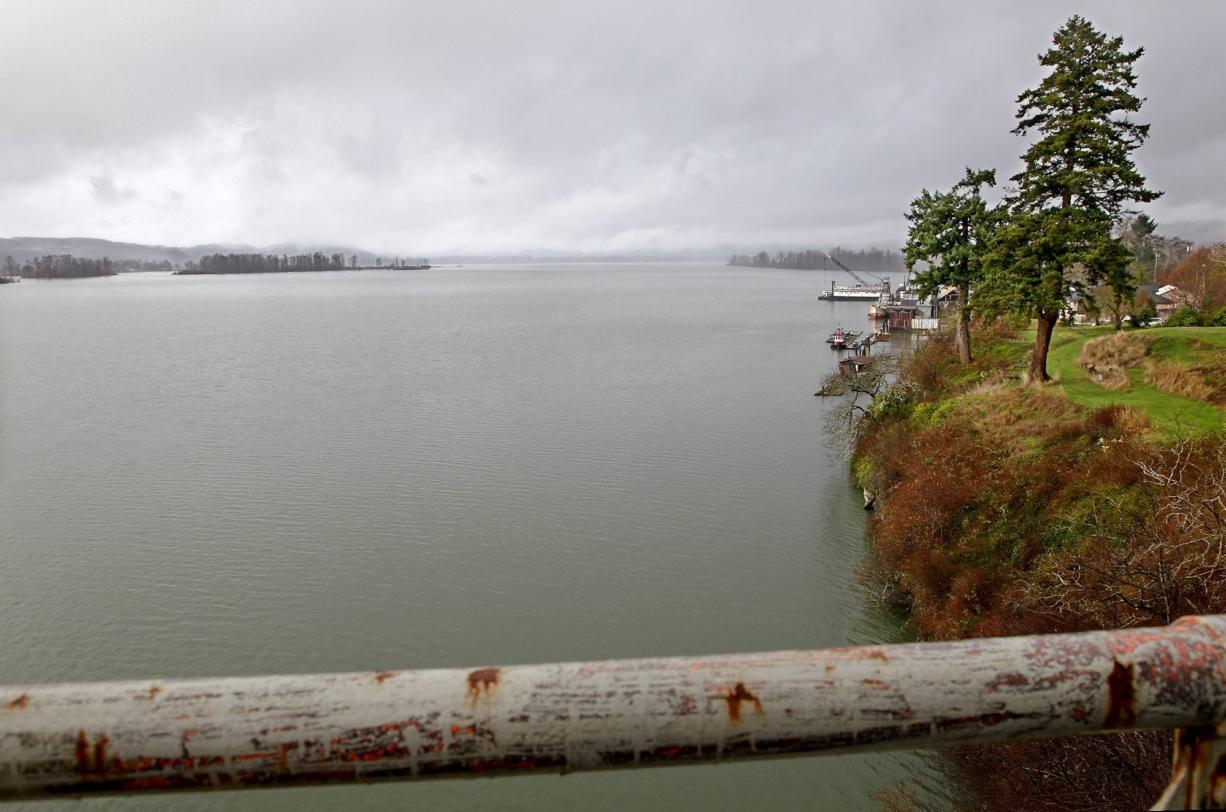 This is the lower end of Cathlamet Channel, looking downstream from the bridge to Puget Island.