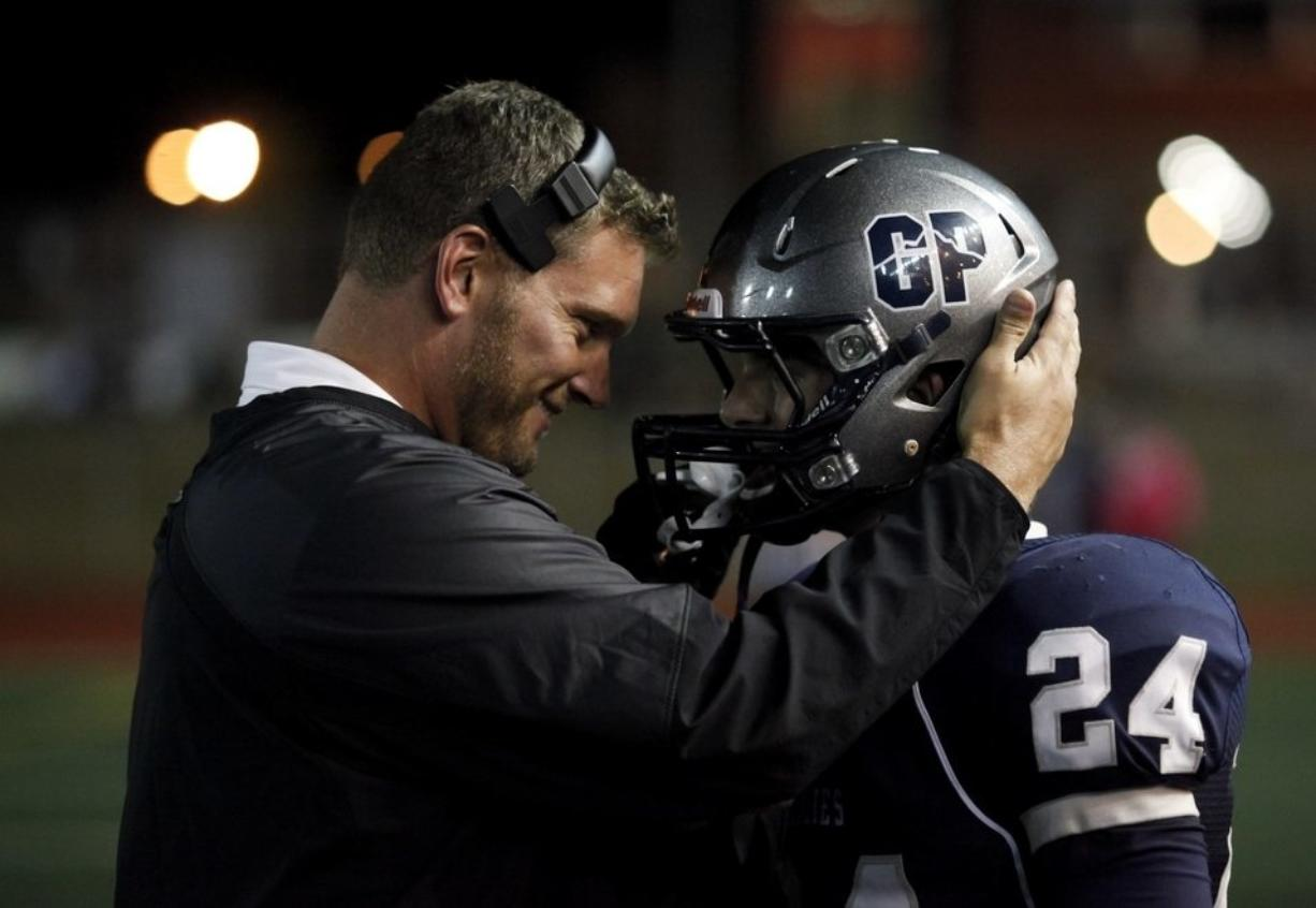 Rory Rosenbach, who guided the Glacier Peak High School football program for eight season, has been hired as the new head coach at Union (Joe Dyer / The Everett Herald)
