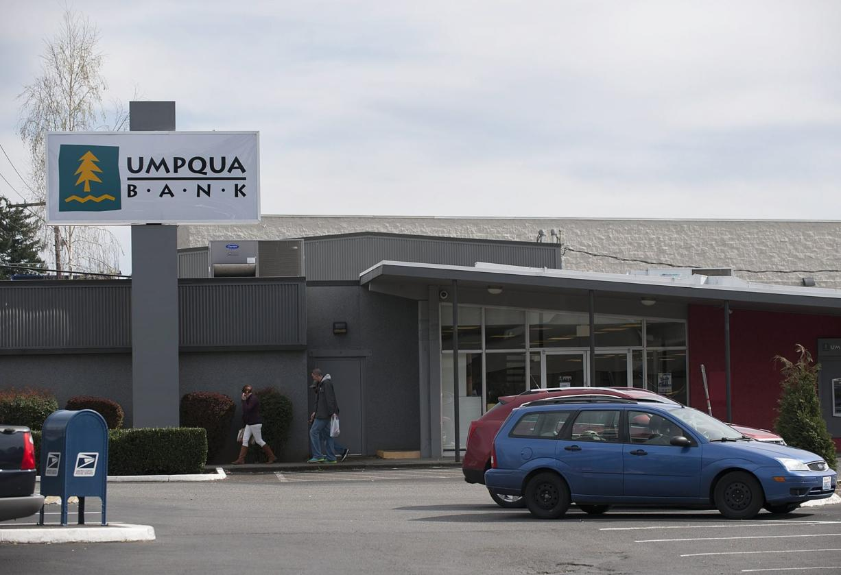 Umpqua Bank will close this Heights branch bank at 6501 E. Mill Plain Blvd, this summer, one of 26 branch closures in four states that Umpqua will make this summer.