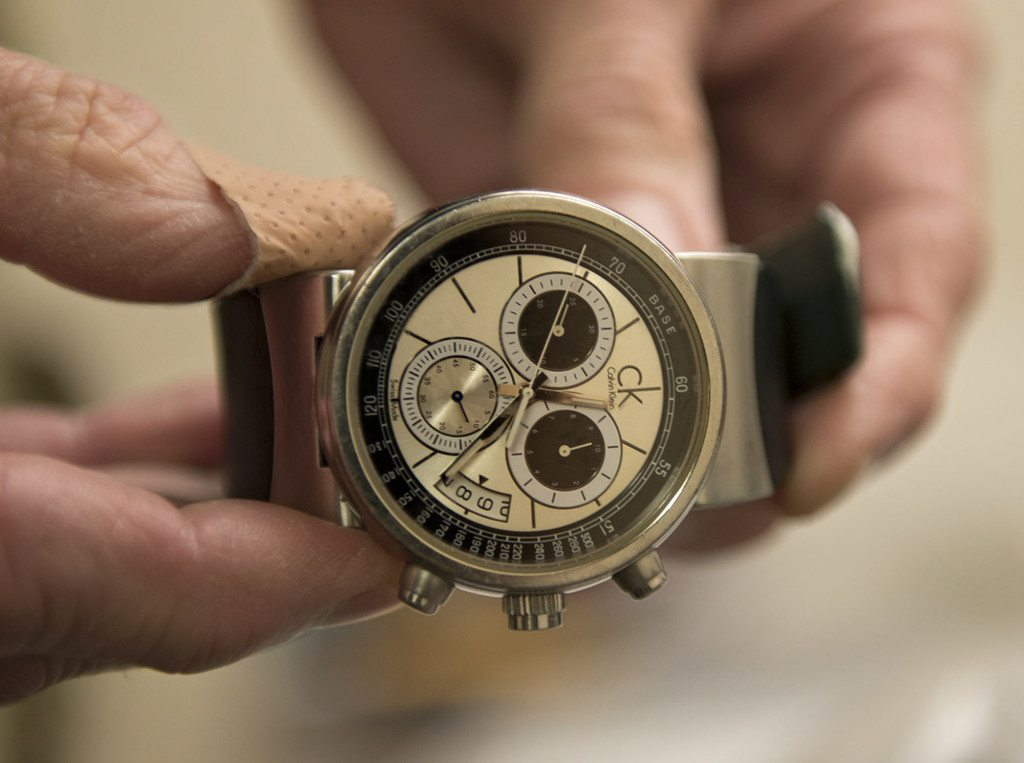 A Seized Watch One Piece Of About 400 Stolen Items In Raid Last