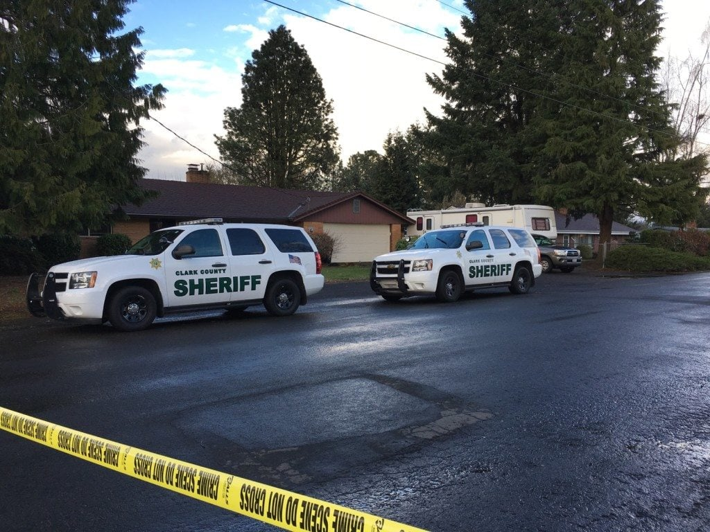 Deputies from the Clark County Sheriff's Office fired on a woman who attacked them with a hammer and a knife today in the Five Corners area, according to police. The woman died at the scene.