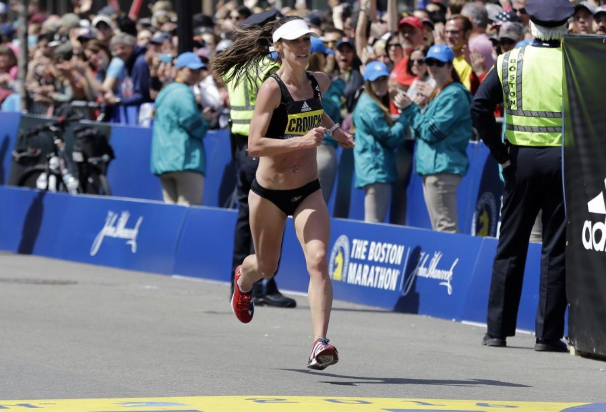Hockinson High School graduate Sarah Crouch (formerly Sarah Porter) finished 11th at the Boston Marathon on Monday, second among American women. (elise amendola/Associated Press)