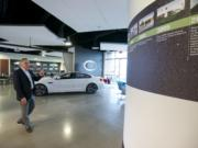 Kuni Auto Group President Greg Goodwin gives a tour of the company headquarters in Vancouver in November.