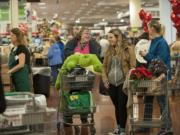 Clark County's taxable retail sales grew by 12.6 percent in the high-spending October-to-December quarter.