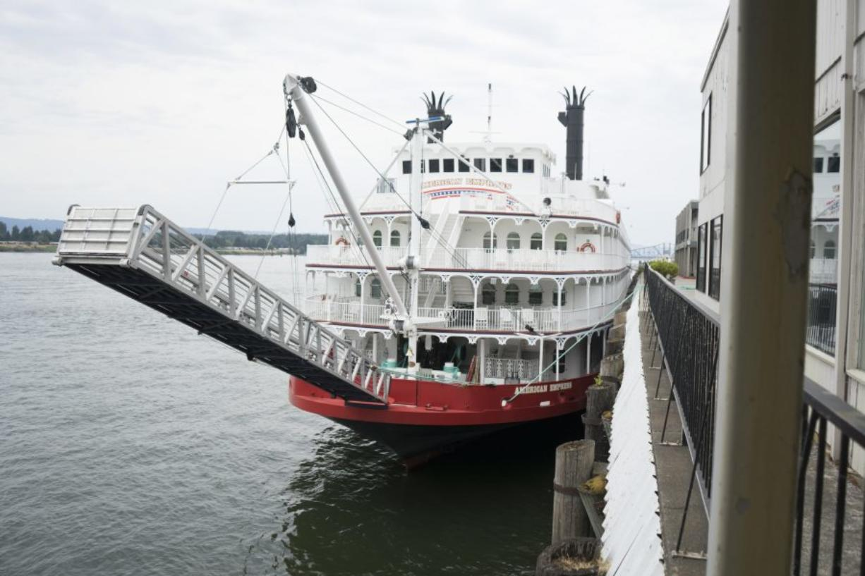The American Empress, shown here in 2015, launches its Columbia River cruises from the Port of Vancouver's Terminal One, adjacent to the now-shuttered Red Lion at the Quay. The ship is increasingly popular as it moves into its third consecutive year on the Columbia.