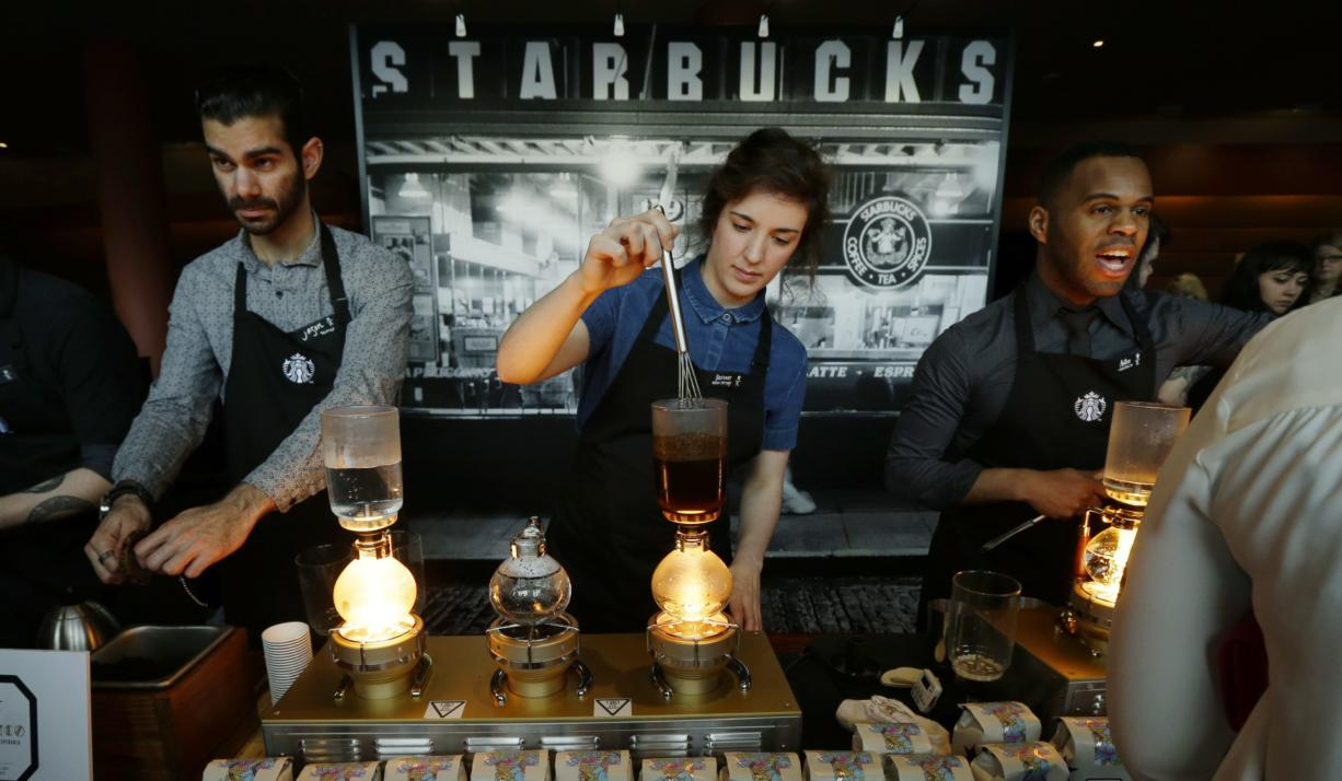 As Starbucks works to overhaul its rewards program, some customers may be looking to take their money elsewhere. (Associated Press files)