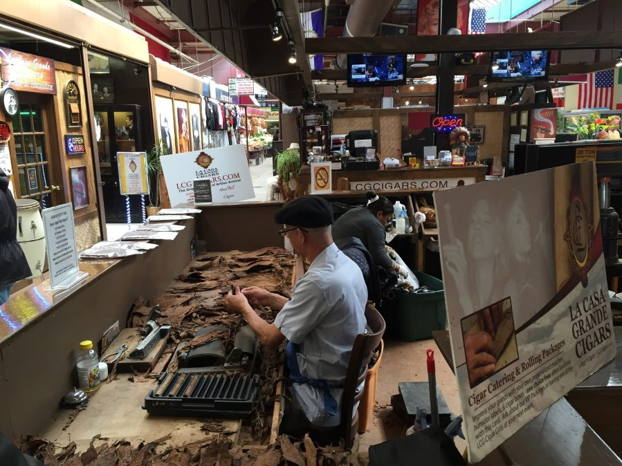 In This April 5 2016 Photo A Worker Hand Rolls Cigars At