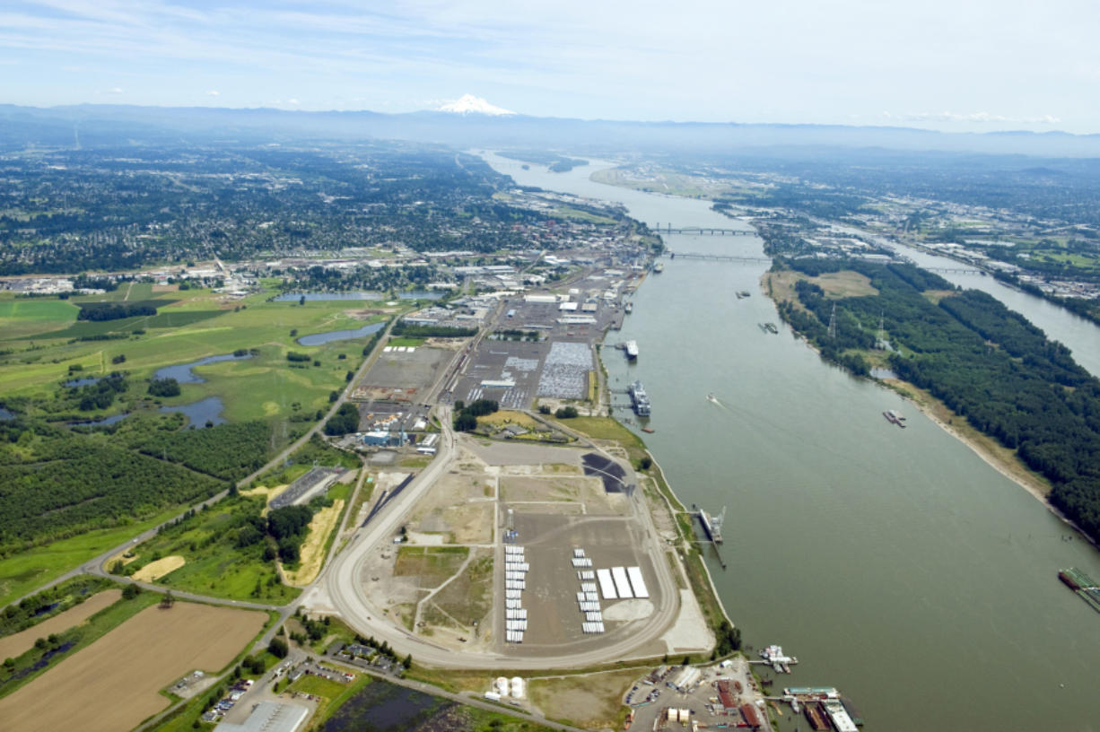 The Port of Vancouver's 218-acre Terminal 5 was the proposed site for the nation's largest oil-by-rail terminal. (The Columbian files)
