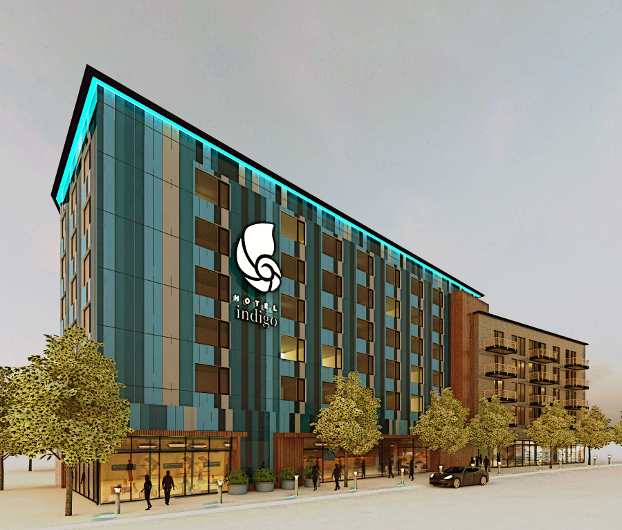 A Rendering Of The Indigo Hotel Project Slated For Vancouver Waterfront Kirkland Development