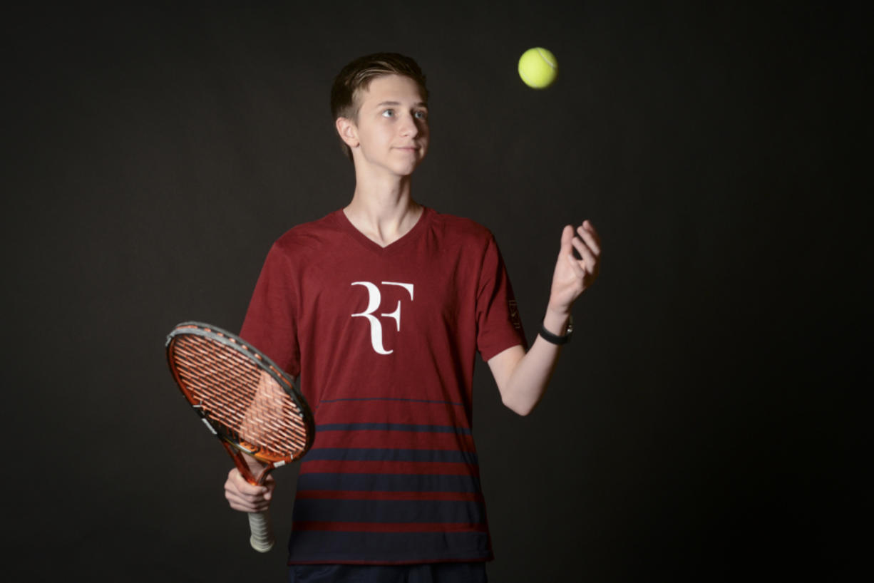 All-Region boys tennis player, Andrew Kabacy, of Skyview High School, as seen at The Columbian Wednesday, June 8, 2016.