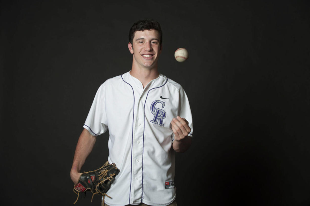 Alex McGarry of Columbia River, the All-Region baseball player of the year, is pictured in The Columbian's photo studio Monday afternoon, June 6, 2016.