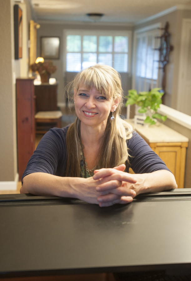 "Colleen Adent at her home in Vancouver's Northwest neighborhood: ""God wired  me to make"