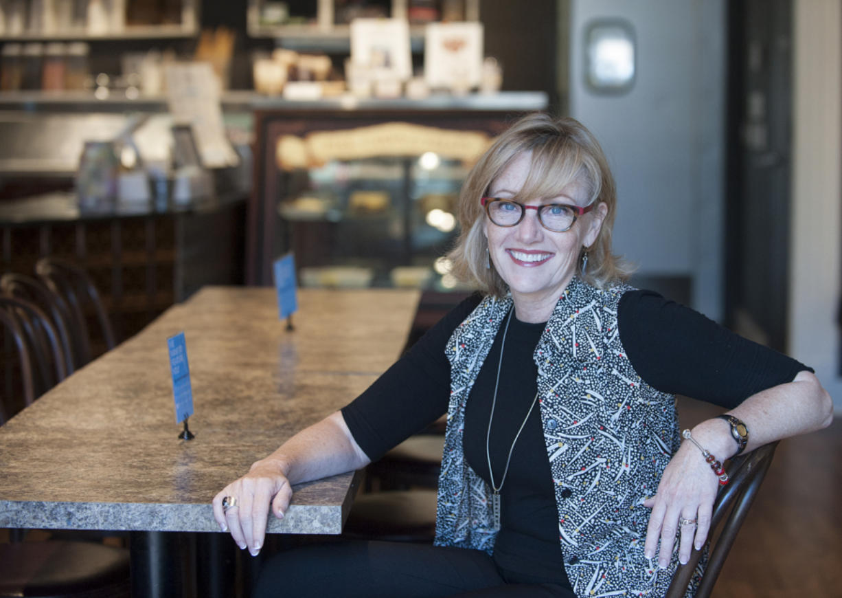 Seanette Corkill of Frontdoor Back visits Ice Cream Renaissance, which is one of her clients.