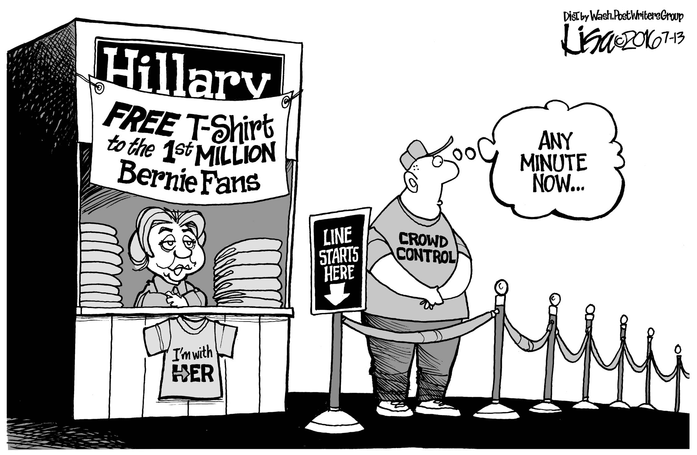 July 16: Hillary Courts Supporters