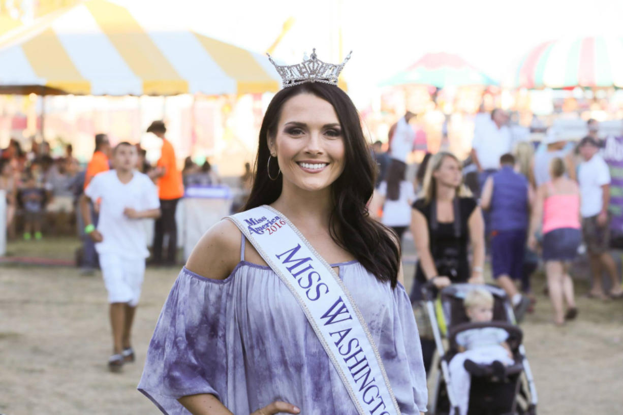 Felida native Alicia Cooper won the title of Miss Washington 2016 in July. She visited the Clark County Fair this month.