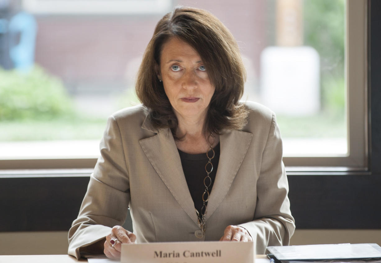 Sen. Maria Cantwell in east Vancouver in June 2016.