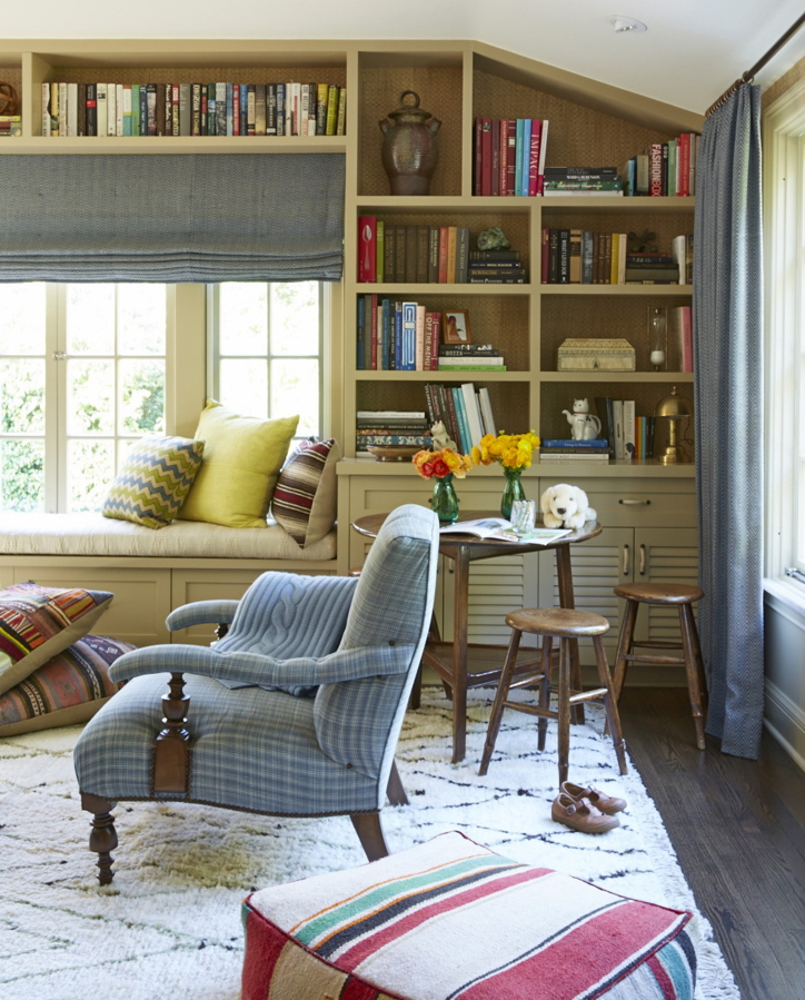 This Child Friendly Family Room Designed By Nathan Turner Offers Closed Storage Perfect