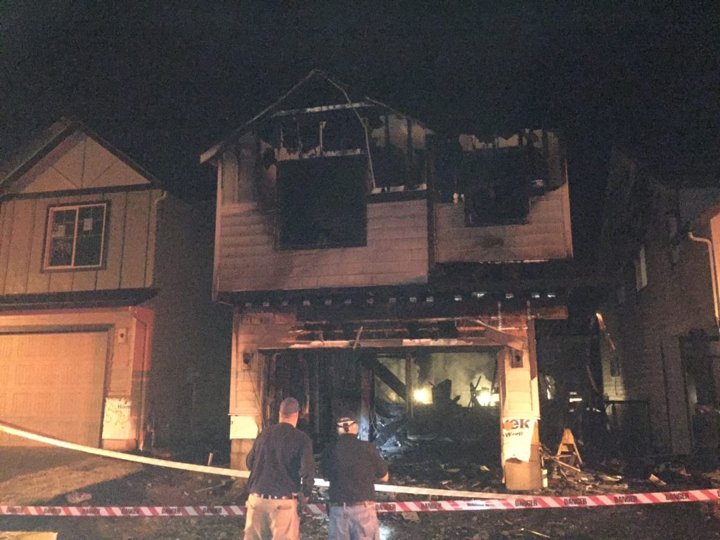 Firefighters Responded To A Fire Early Thursday Morning At An Under Construction House In The 3700
