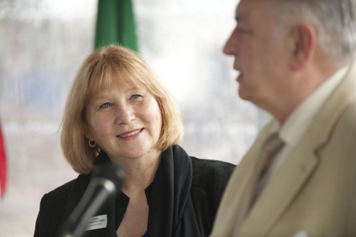 Vancouver City Councilor Anne McEnerny-Ogle with Bill Turlay in 2015.