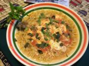 Soup's On will see Italian Egg Drop Marinara Soup.