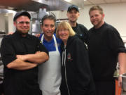WareHouse '23 restaurant staffers helped Maley and me as we cooked soup.