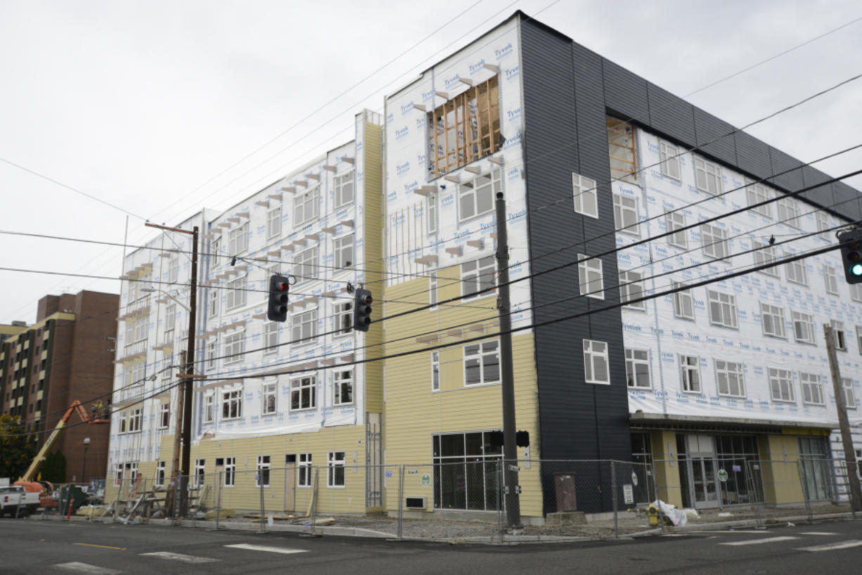 13 West is one of 11 apartment complexes under construction in Clark County.