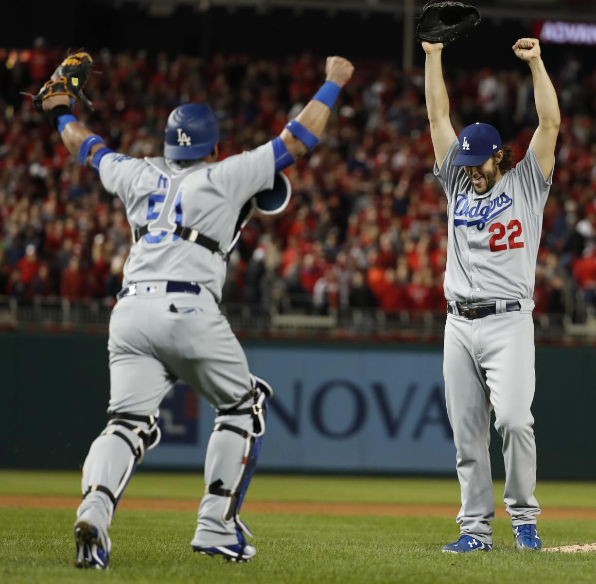 Kershaw gets save, L A  tops Nats 4-3 to win NLDS