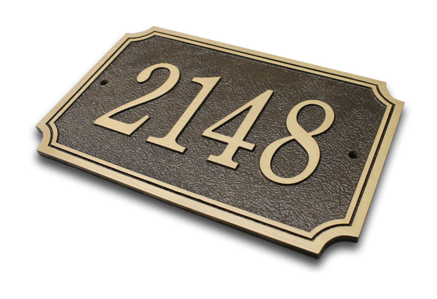 House Numbers Count The Columbian - 10 inch metal house numbers