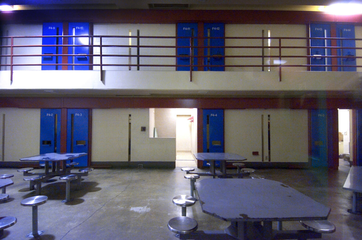 An interior view of one of the pods at the Clark County Jail.