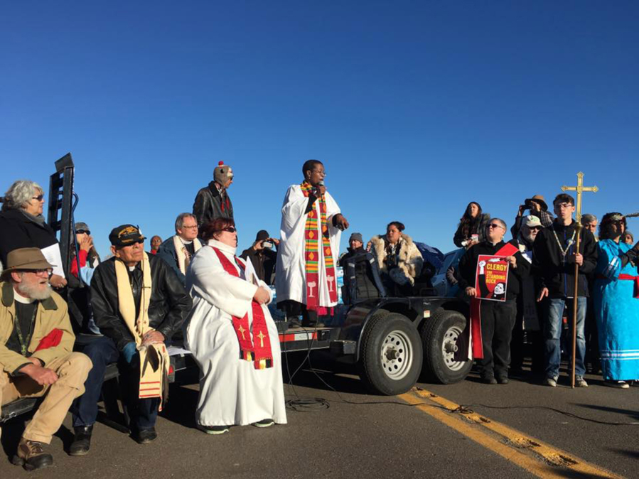 Local Clergy Members Join Dakota Access Oil Pipeline Protest The