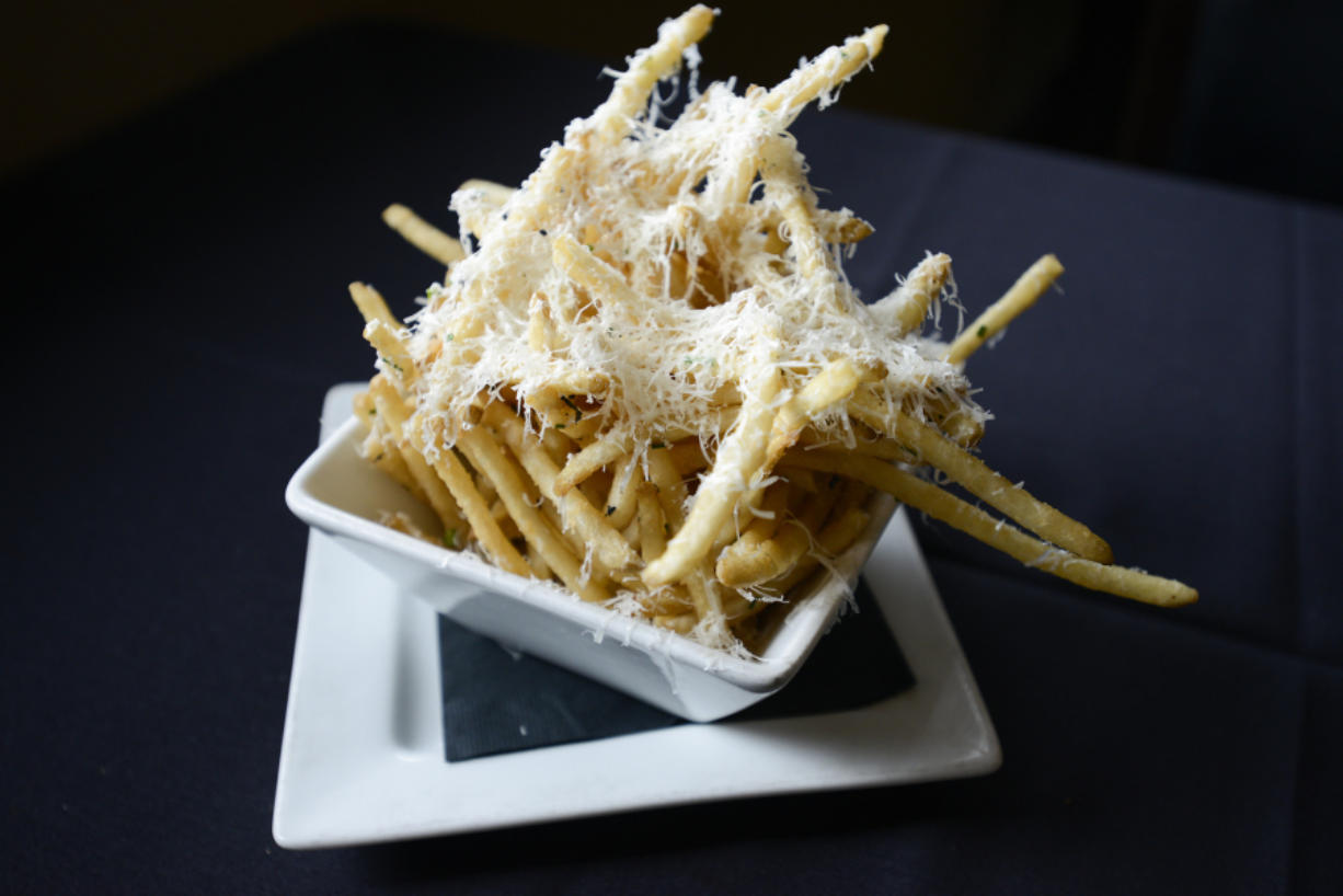 The truffle fries are served Nov. 21 at Main Event on Southeast 164th Avenue in Vancouver.