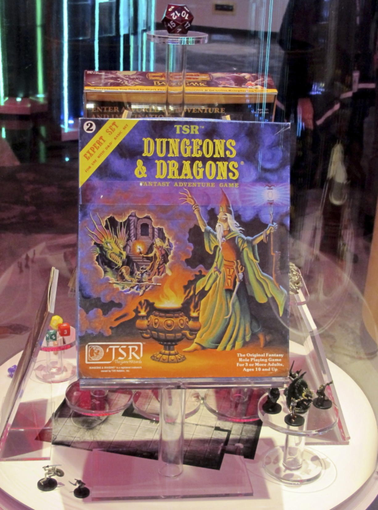 Dungeons & Dragons is on display after being inducted Thursday into the National Toy Hall of Fame at The Strong museum.