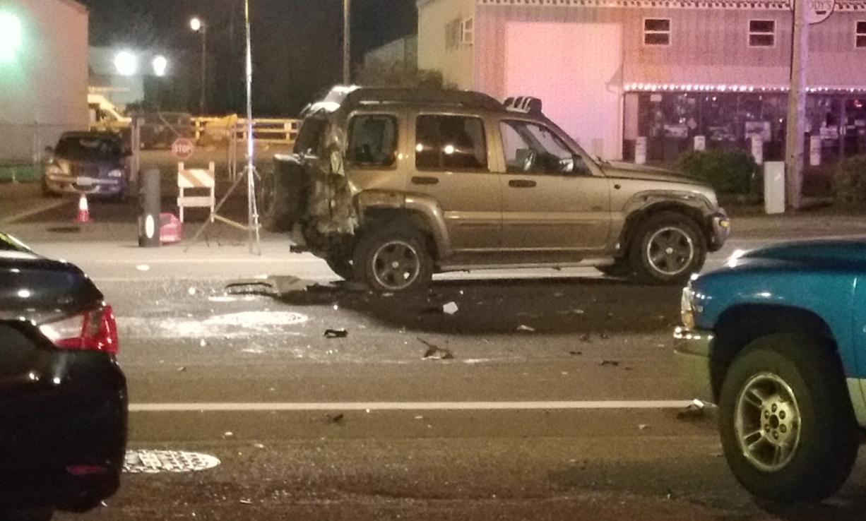 A teenaged motorcycle rider was critically injured Friday night when his bike crashed into the back of an SUV on St. Johns Road.