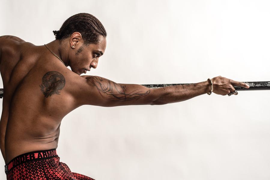 2195a5ae1e7fb Taras Domitro, a dancer from the San Francisco Ballet, shows off his tattoos .