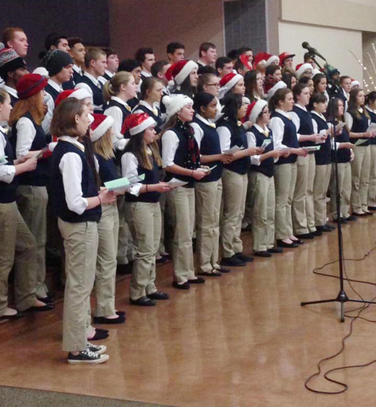 Evergreen Highlands: Guests of the St. Joseph Catholic Church Golden Fellowship Senior Lunch were treated to a performance by the Seton Catholic College Prep Choir and lunch served by St.