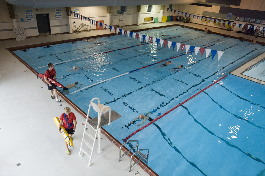 Swimmers Stroke Laps At The Marshall Community Center Pool In October 2010 Columbian Files